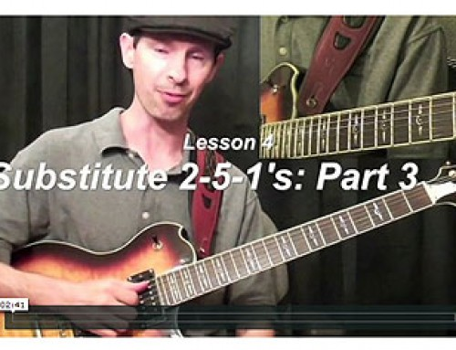 How To Play Different Substitutes For The 2-5-1's Chord Progression