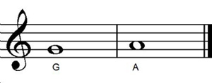 Guitar notes G A